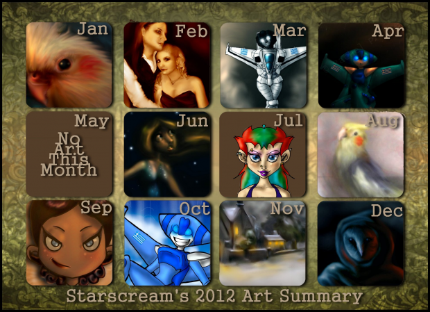 Starscream's 2012 Art Summary