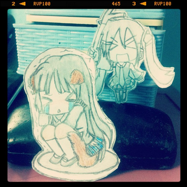 cuteeeee  mio and hatsune