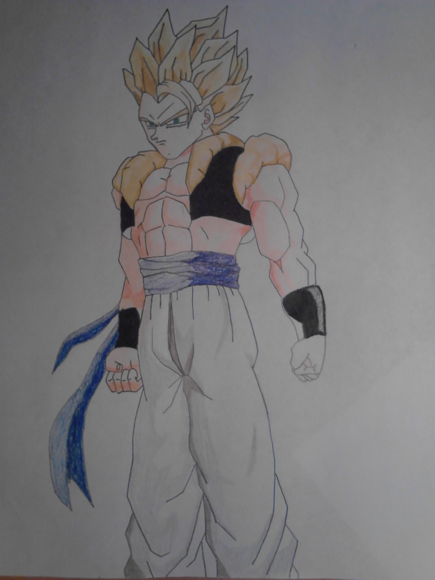super saiyan Gogeta drawing