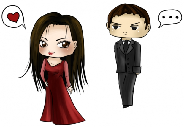 Chibi Nikita and Michael