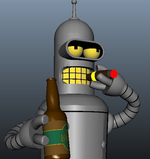 3D Bender w/ Cigar and LoBrau Beer