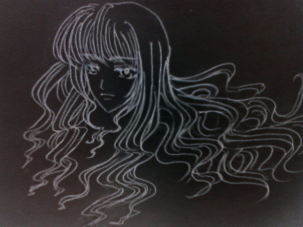 blackboard Do0dle 0.o (random girl)