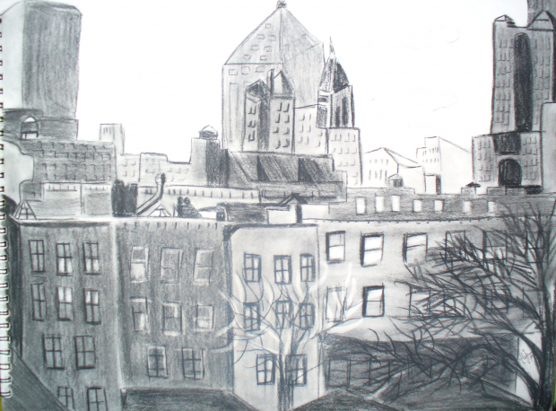 Charcoal- City Scape