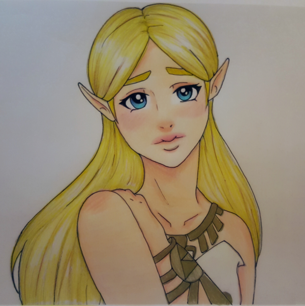 Princess Zelda colored