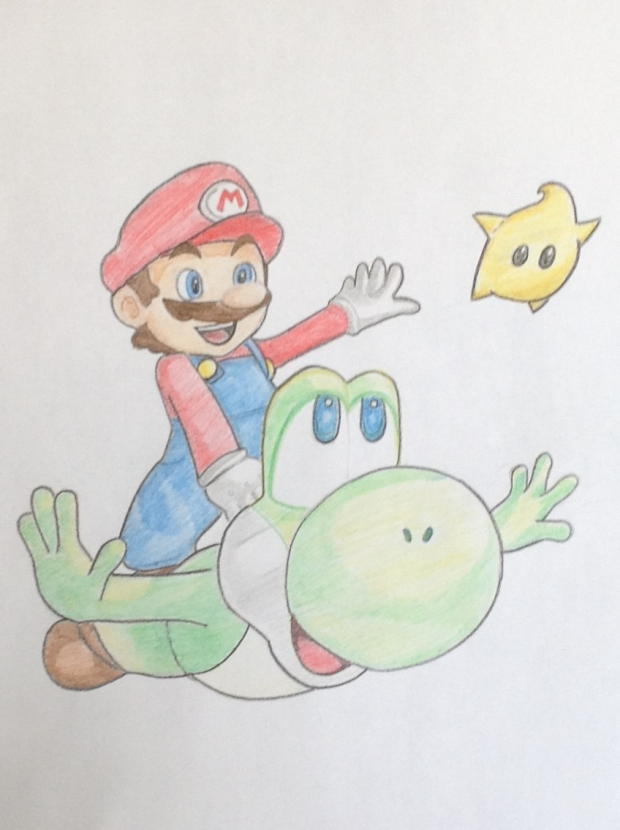 Super Mario galaxy fan art