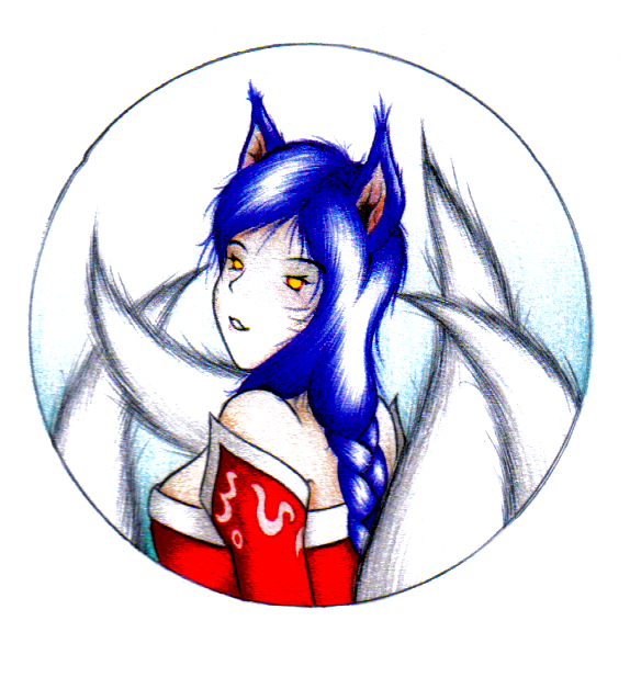Ahri Pin Badge Design