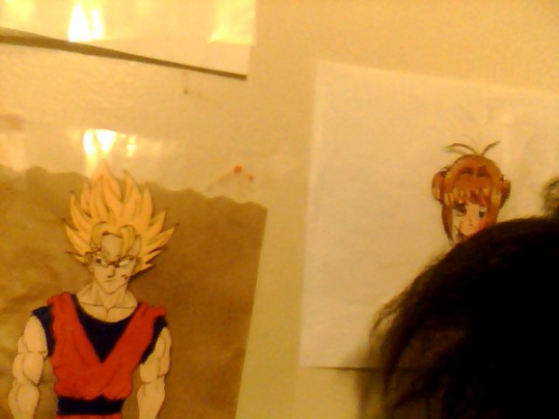 Goku On The Wall Cel