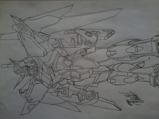 destiny gundam sketch