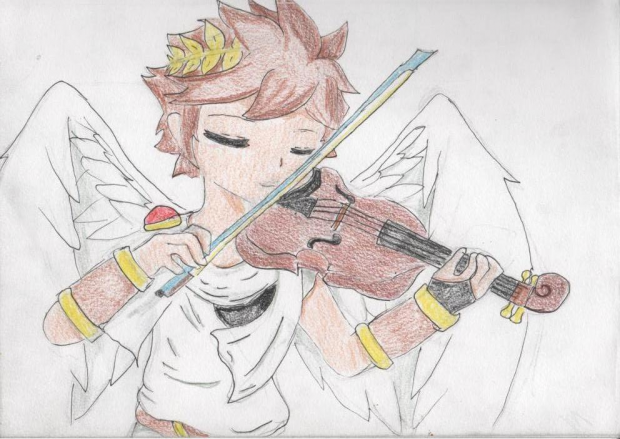 Pit plays the violin
