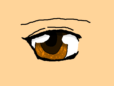 My Attempt At An Anime Eye