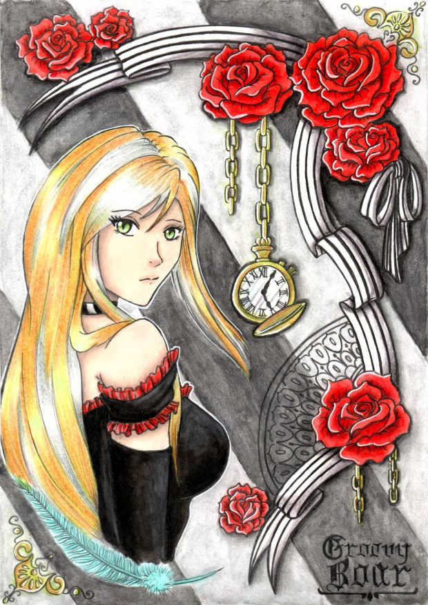 SS: Time, roses and a single feather