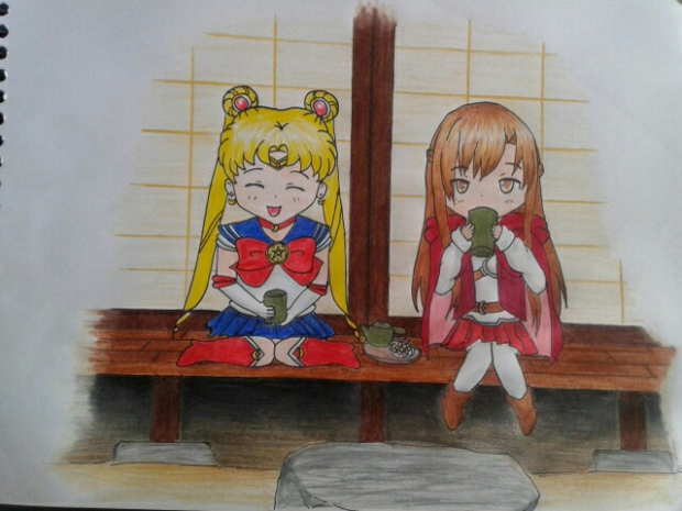 Asuna and Sailor Moon