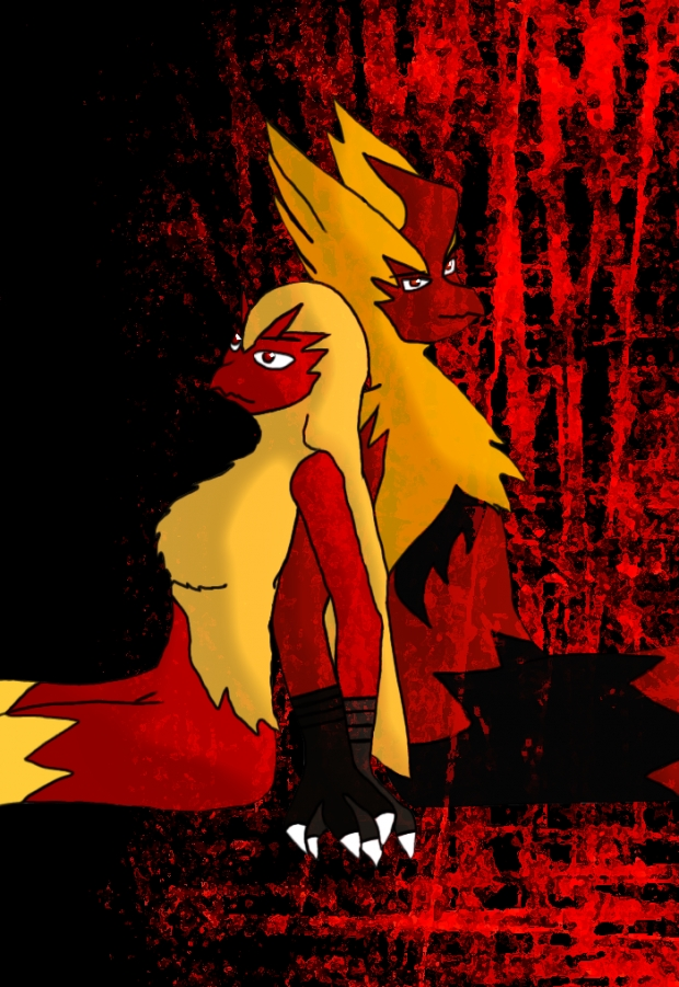 Sketched&Colored: Blaziken Couple