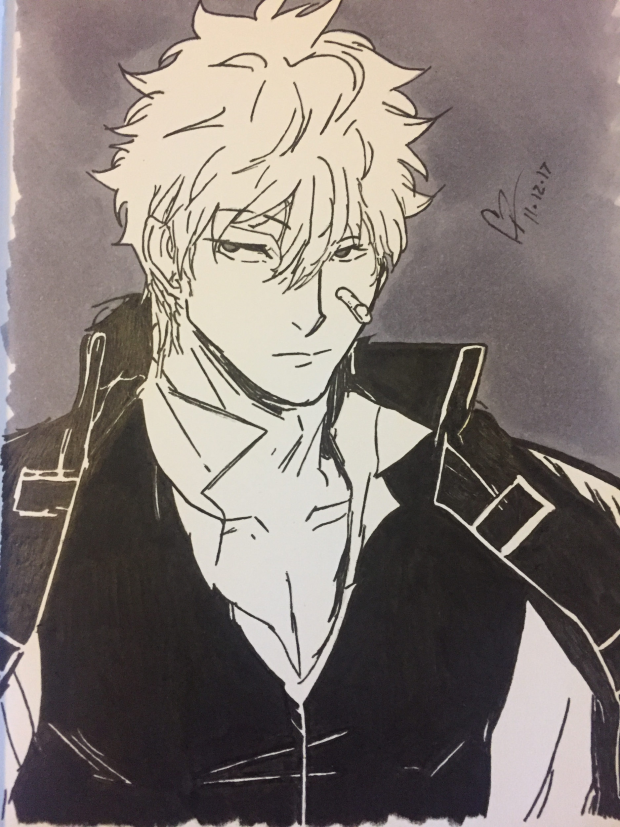 Gintoki Sakata from Gin Tama Anime