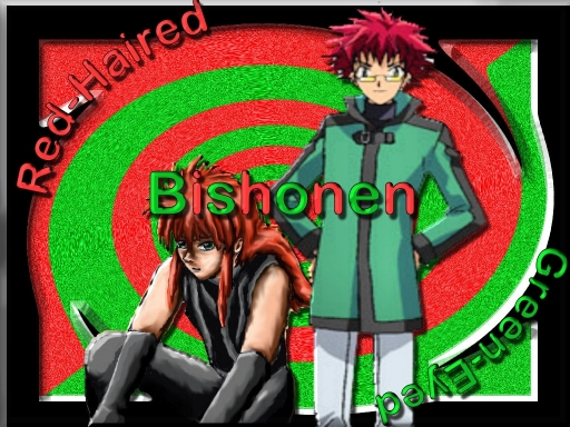 Red-haired Green-eyed Bishonen