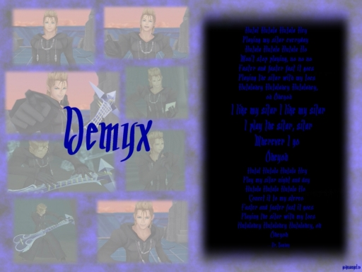 KH - Demyx loves his Sitar!