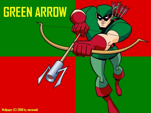 Retro Style Green Arrow