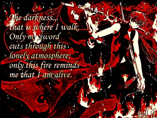 Devoured by these flames