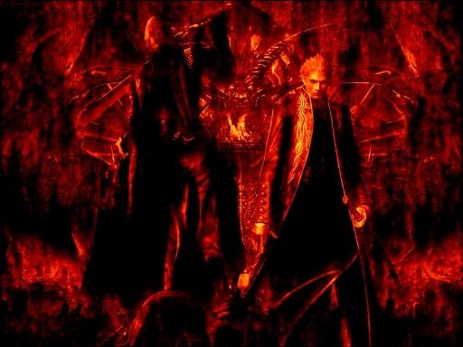 Dante And Vergil - Fire