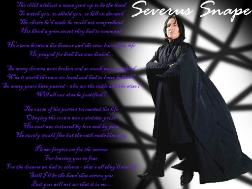 Hand of Sorrow - Severus Snape