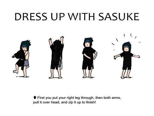 Dress Up With Sasuke