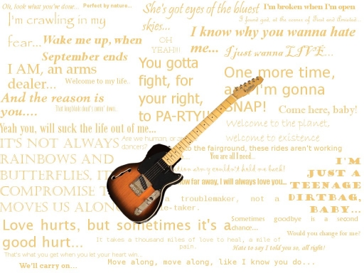 Guitar with Rock Quotes