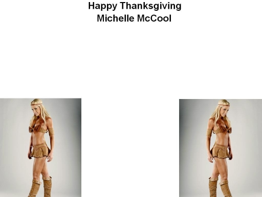 Michelle McCool Thanksgiving
