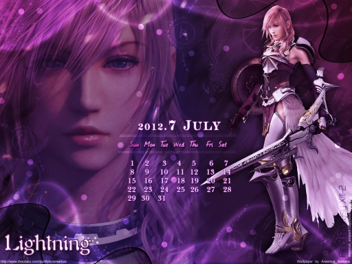 Lightning Calender Wallpaper