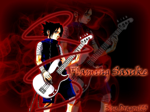 Flaming Sasuke