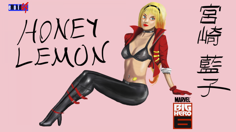 Honey Lemon Digitally Painted