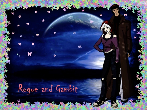 Rogue & Gambit in Moonligh