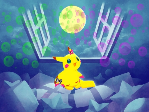 Pikachu's full moon