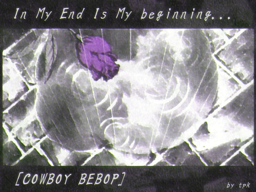 Cowboy Bebop ~ purple rose