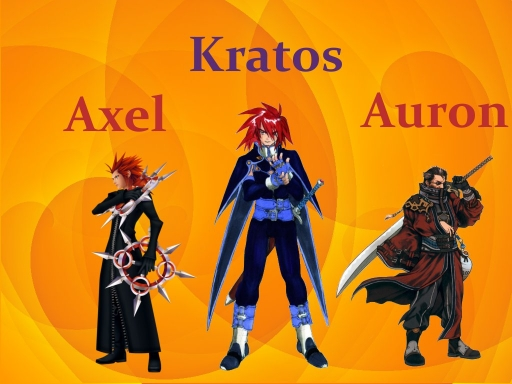 Axel Kratos and Auron