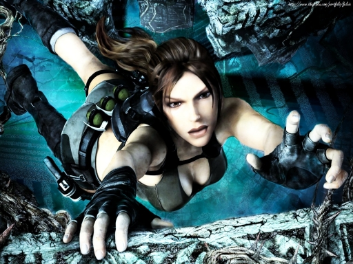 Lara Croft - Falling