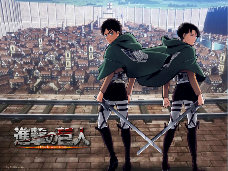 Eren & Levi, city defender