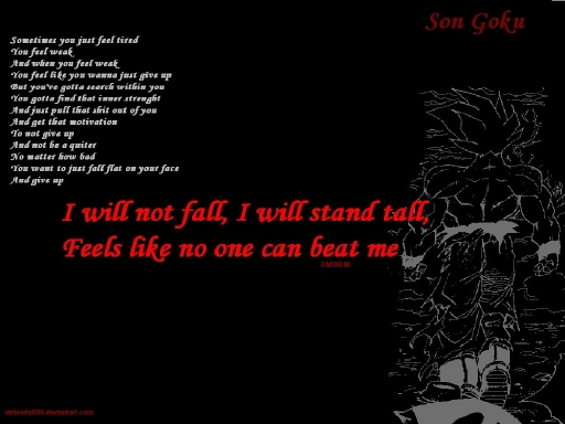 Till I Collapse Goku Wallpaper