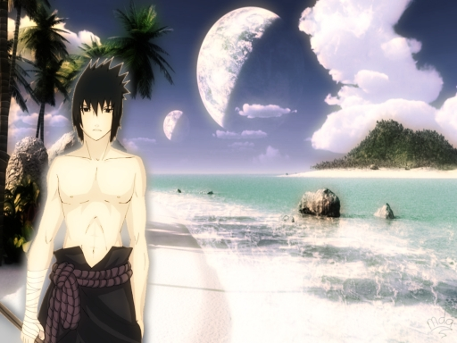 Sasuke at beach