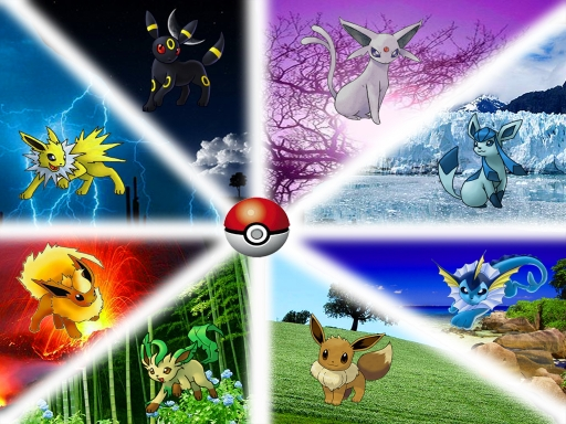 all eevee's evolutions =P
