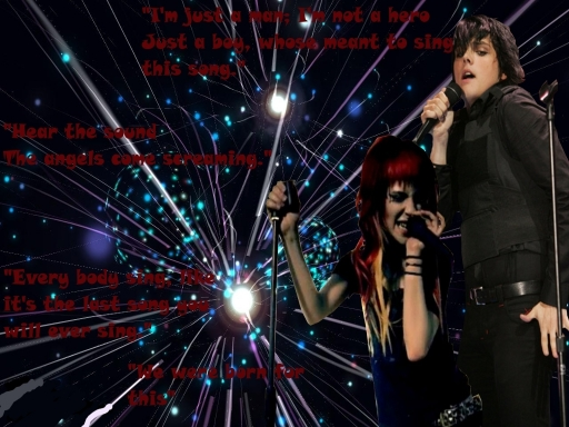 Gerard Way and Hayley Williams