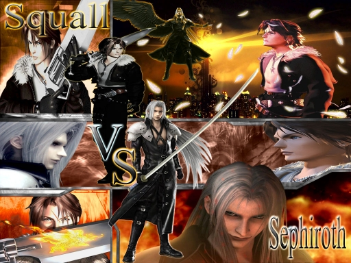 Final Fantasy Sephiroth vs Squ