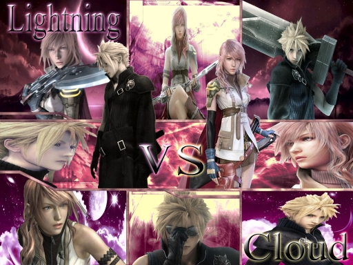 Final Fantasy Cloud vs Lightni