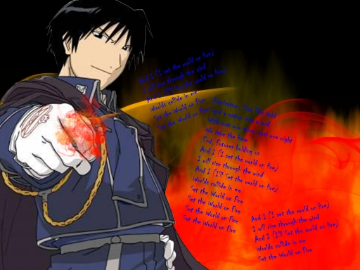 Roy Mustang World On Fire