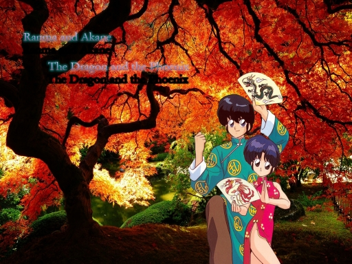 Ranma and Akane - The Dragon a