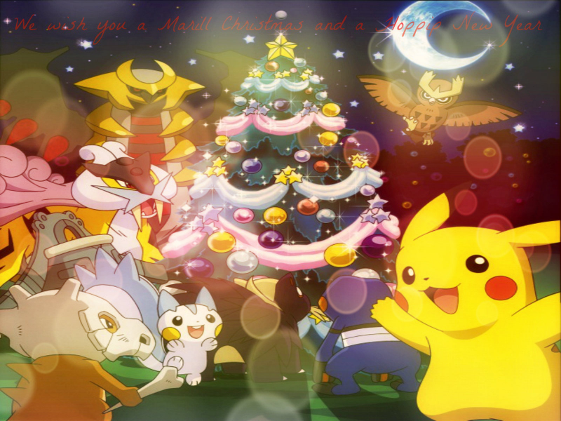 Marill Christmas and a Hoppip
