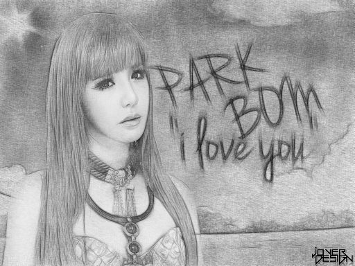 Park Bom pencil sketch