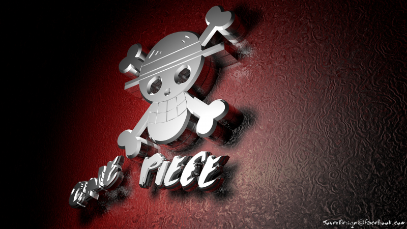 One Piece Logo Chrome