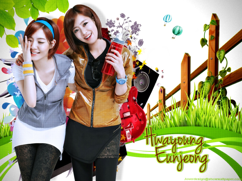 T-ara:eunjeong and hwayoung