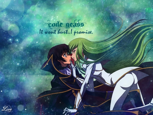 C.C and Lelouch Kiss