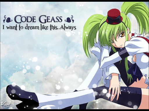Code Geass Dream Like this..